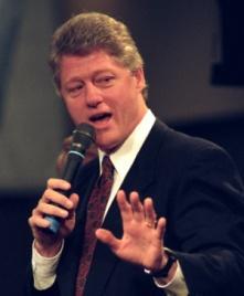 Tổng thống Mỹ Bill Clinton trong chiến dịch tranh cử năm 1992